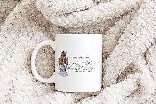 N\A Taza de Cuento de Hadas, Regalos para escritores, Regalos para Amantes de los Libros, Regalos literarios, Regalos para Amantes del café, Amantes del té