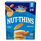 Blue Diamond Almonds Nut Thins Cracker Snacks, Original, 4.25-Ounce Boxes (Pack of 12)