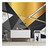 壁紙壁3Dブラックゴールド幾何学模様テレビ背景壁画リビングルーム装飾壁
