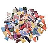 PandaHall 250g Azulejos de Mosaico de Cerámica Piezas Chips Floreros Marcos de Fotos Macetas Piezas de Mosaico para Manualidades de Bricolaje Artes de Decoración del Hogar