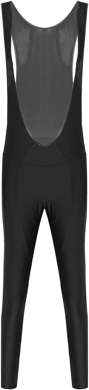 Sholeno Mens Cycling Bib Pants Sleeveless Bodysuit Open Front Mesh Patchwork Riding Tights Jumpsuit