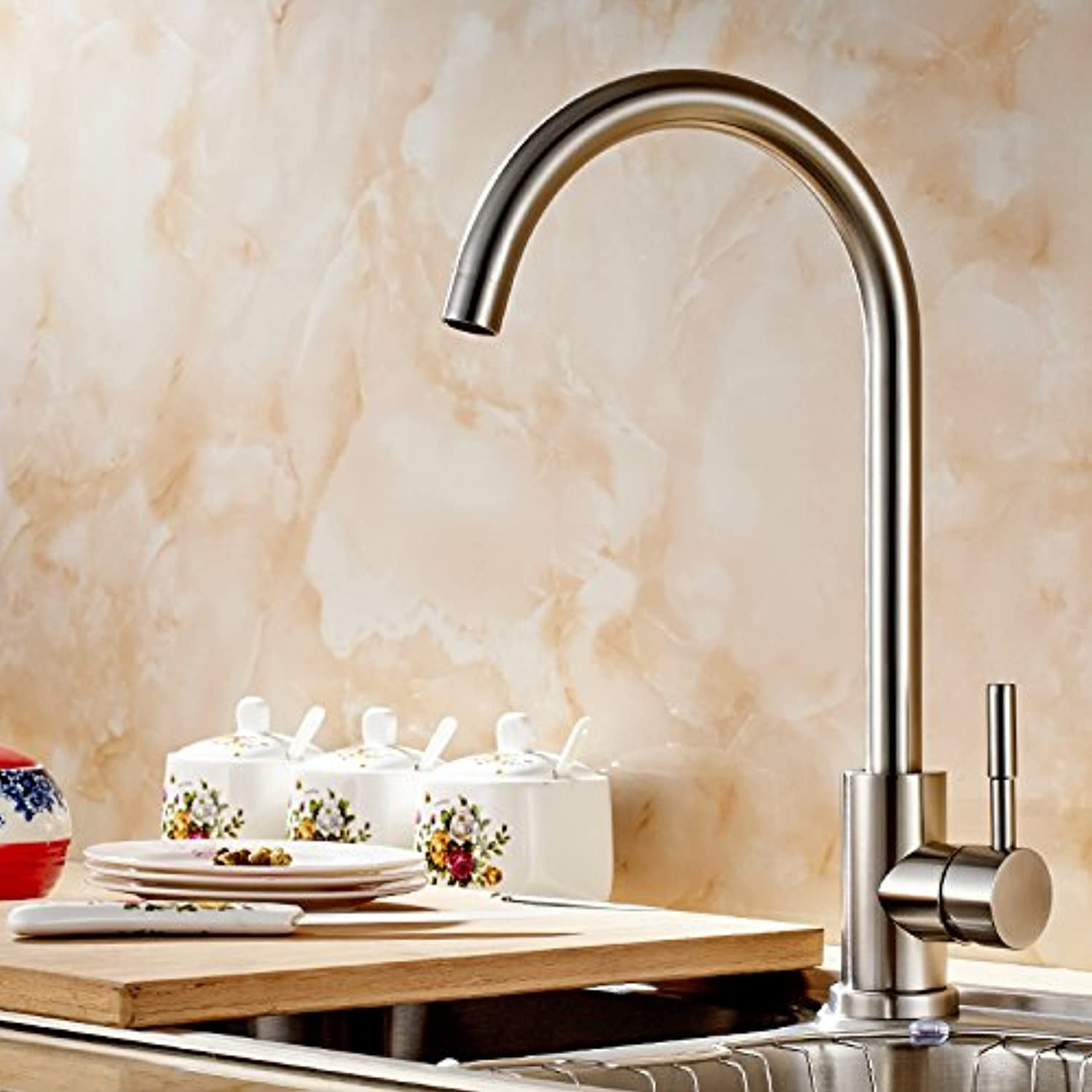 Lpophy Bathroom Sink Mixer Taps Faucet Bath Waterfall Cold and Hot Water Tap for Washroom Bathroom and Kitchen Stainless Steel Hot and Cold Water