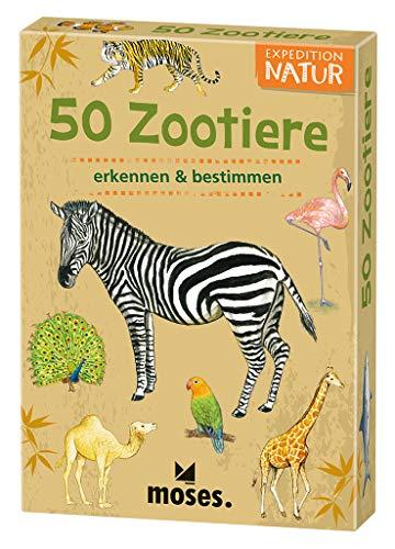 Expedition Natur - 50 Zootiere | Bestimmungskarten im Set | Mit spannenden Quizfragen