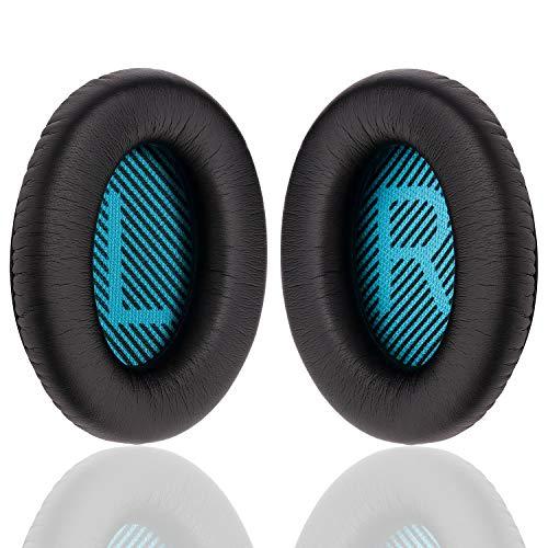 YOCOWOCO - Cuscinetti di ricambio per cuffie Bose QuietComfort 25 - morbidi cuscinetti auricolari compatibili con QC15 QC25 QC2 QC35/Ae2 Ae2i Ae2w SoundTrue e SoundLink(Around-Ear)