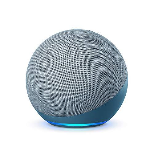 Nuevo Echo (4.ª generacion) | Sonido de alta calidad, controlador de Hogar digital integrado y Alexa | Azul grisaceo
