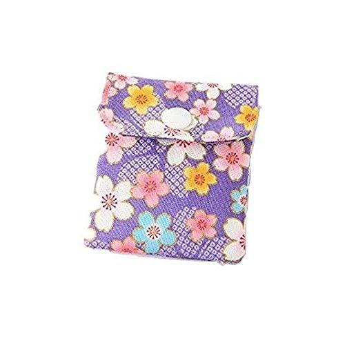 携帯灰皿 おしゃれ かわいい 和風 桜 フラワー パープル 匠の技 河島彰子作 インナーリフィル合計2個付属 日本製