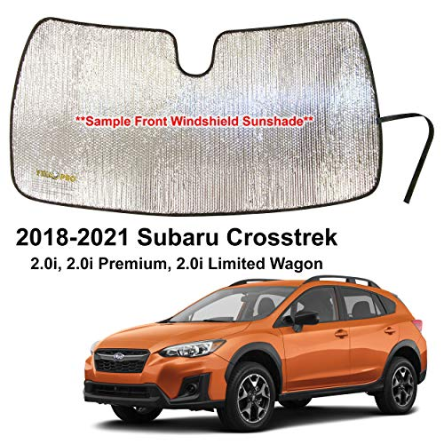 YelloPro Custom Fit Automotive Reflective Front Windshield Sunshade Accessories UV Reflector Sun Protection for 2018 2019 2020 2021 Subaru Crosstrek 2.0i, 2.0i Premium, 2.0i Limited Wagon