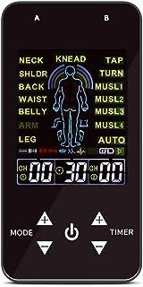QKa Decenas Unidad Estimulador Muscular para El Alivio del Dolor Terapia, Canales Duales Impulsos Electrónicos Masajeador Ccsme Deivce De Viaje con Estuche Rígido
