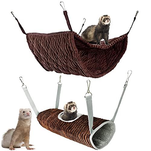 Hamac pour petit animal - Lit hamac et cage tunnel -...
