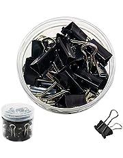 DDSTG Clips plegables de 19 mm, color negro, paquete de 40 unidades