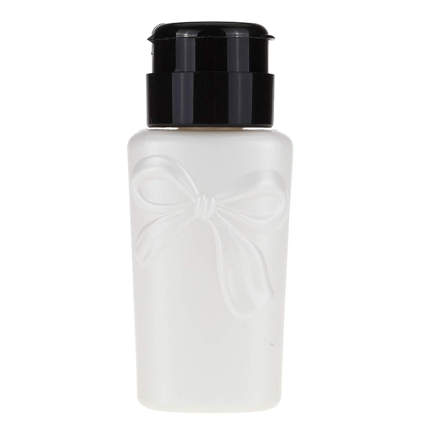 230ミリリットルネイルアート耐圧瓶UVジェルポリッシュ液体アルコールストレージ押してポンプディスペンサー空のボトルマニキュアツールを削除し、230ミリリットル、白、プラスチック