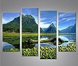 islandburner Bild Bilder auf Leinwand Neuseeland V3 4er XXL
