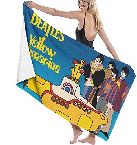 yuiytuo Toalla de baño,Juegos de Toallas BEA-tles Cartoon Yellow Submarine' Animator Cotton Beach Towel Microfiber Absorbent Bath Towels Quick-Drying Towel Blanket for Women Kids