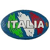 Ballon de rugby bleu - Adultes et enfants - Modèle Team Rugby Italie - Grande taille - Taille 5.
