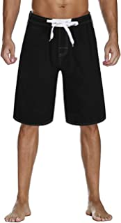 Nonwe Men's Beachwear Board Shorts Quick Dry with Mesh Lining Swim Trunks