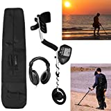 American Hawks Explorer II Metal Detector LCD Screen | Display Type of Object & Depth | Waterproof Search Coil Headphone Carry Bag | Gold Silver Bronze Platinum | Treasure Hunting 3 Modes Professional