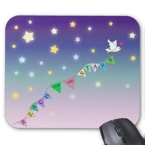 Bereik voor de sterren schattige vogel bunting muismat maken uw eigen muismatten rechthoek kleurrijke hemel muismat