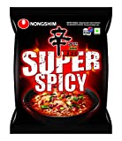 Nongshim Ramyun Korean Style Super Spicy Noodle Soup Instant Noodles (Pack of 5)