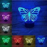 Butterfly 3DLED Lampe Touch USB-Basis Nachtlicht Kinder niedlichen mehrfarbigen...