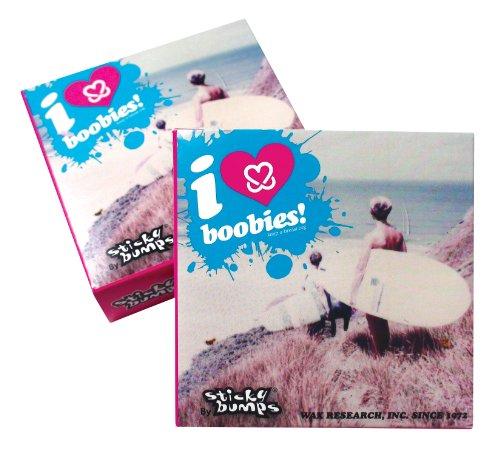 STICKY BUMPS I Love Boobies cálido/Tropical Surf Cera (Pack de 3), Color Rosa