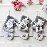 liuliu Adornos Media de la Navidad Lindo Colgante Botas Poco de cartón para niños Año Nuevo Bolsas de Regalo de Dulces Adornos de árbol Chimenea