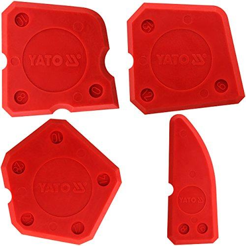 Yato YT-5261 - Kit de espátulas para silicona 4pza Yato