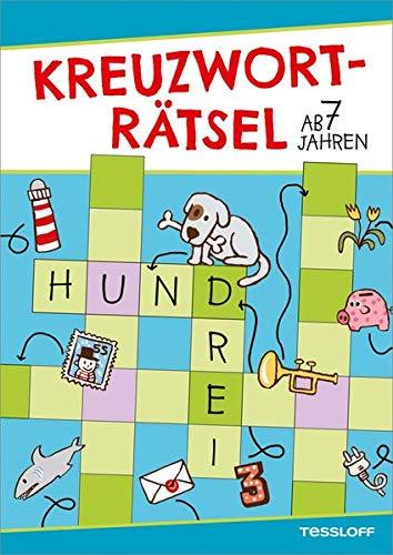 Kreuzworträtsel ab 7 Jahren (Blau/Hund) (Rätsel, Spaß, Spiele)