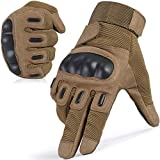 WTACTFUL Touchscreen Army Tactical Gloves Military Full Finger Gloves for Cycling Motorcycle Motorbike Hunting Hiking Airsoft Paintball Shooting Combat Training Sports Gear Brown X-Large
