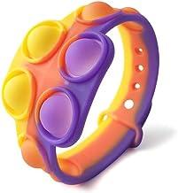 Yoohh Stress Relief Polsband Fidget Toys, Draagbare Push Bubble Sensory Fidget Hand Finger Press Siliconen Armband Speelgo...