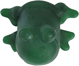 HEVEA Fred Green Rubber Frog Made from Natural Rubber, BPA-Free, PVC-Free and Plastic-Free, 3