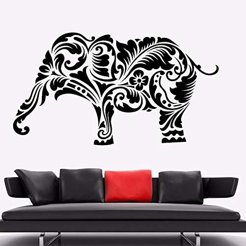 Elefante Africano Animal Yoga Elefante Pegatinas de pared Aula Dormitorio Gimnasio Decoración