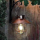 2021 Lanterne solaire pour extérieur suspendu Vintage lumières LED IP44 Éclairage Solaire Extérieur Lampe Lanterne Sans fil Rechargeable pour Chambre Patio Garden Fête Halloween Noël