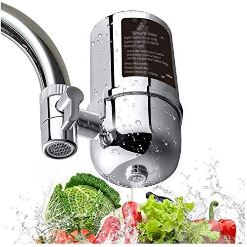 qiuqiu Wasserhahnfilter,Wasserhahn Filtersystem, Trinkwasser Filtrationssystem Wasserhahn Wasserfilter | Leitungswasserfilter | Entfernt Blei | Küchenzubehör Für Gesunder Lebensstil