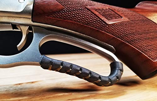 D4 Guns Handcrafted Leather Lever Wrap for Lever Action Rifles and Shotguns (Black/Black)