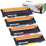 Kingjet Pack de 4 cartuchos de tóner compatibles con 117A W2070A para HP MFP 179fwg 178nwg tóner HP 150a 150nw HP Color Laser MFP 179fnw HP MFP 178nwg 178nw con chip
