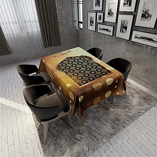 CCBAO Mantel Impermeable De Poliéster con Estampado 3D para El Hogar, Hotel, Mantel De Té Impermeable, Mantel Rectangular, Cubierta De Bandera De Mesa 140x180cm