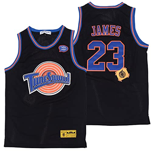 YDHZ Lakérs # 23 Jamés Jersey, Camiseta Deporte Camisa de Baloncesto Herren Malla Moda Atmungsaktive Mesh Sportswear Black-XXL