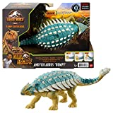 Jurassic World Ataque Rugido Ankylosaurus Dinosaurio articulado con sonidos, figura de juguete para niños Mattel GWY27