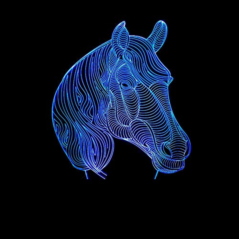 Wuqingren Home Decoration Pferd Geschenke 3D Nachtlicht Lampe Sieben Farbwechsel Vision Stereo Lampe Acryl Lampe,A3,Blautooth Speakers
