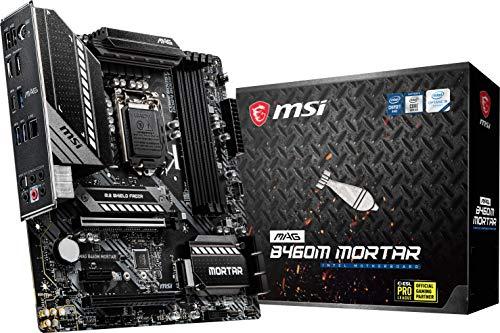 MSI MAG B460M Mortar Gaming Motherboard mATX Intel Core 10 LGA 1200 Socket DDR4 CFX Dual M2 Slots USB 32 Gen 1 25G LAN DPHDMI