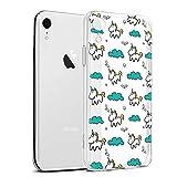 Eouine Funda para iPhone XR, Cárcasa Silicona 3D Transparente con Dibujos Diseño Suave Gel TPU [Antigolpes] de Protector Case Cover Fundas para Movil para iPhone XR 2018-6,1 Pulgadas (Unicornio)