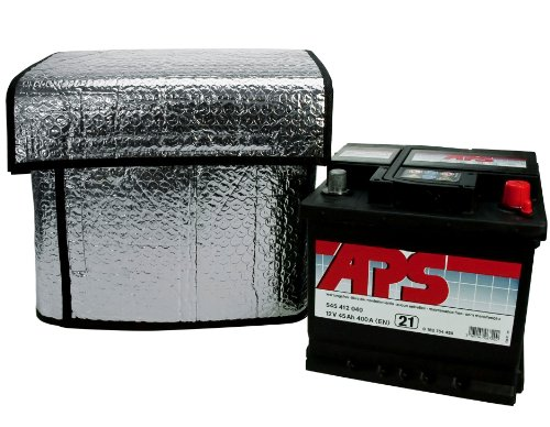 Cartrend 96157 Thermo-Batteriehülle, Größe ca. 118 x 75 cm für 50-72 Ah geeignet, hält Starterbatterien bei tiefsten Temperaturen funktionsfähig