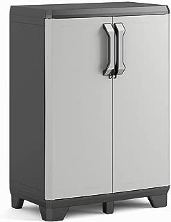 Keter Gear - Armario bajo, 97 x 68 x 39 cm, color gris/antracita