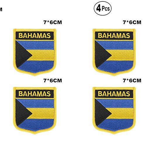 Bahama's Shiled Shape vlag patches nationale vlag patches voor Cothing DIY Decoratie