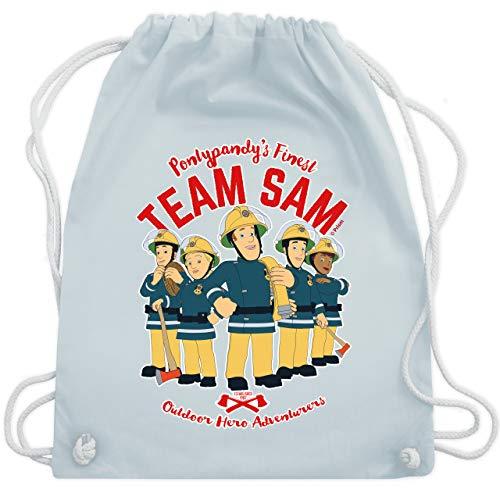 Shirtracer Feuerwehrmann Sam Tasche - Team Sam - Unisize - Pastell Blau - Feuerwehr - WM110 - Turnbeutel und Stoffbeutel aus Baumwolle