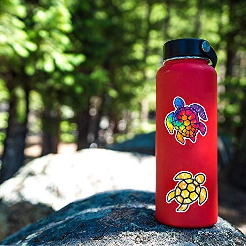 Wasserflaschen-Schildkröten-Aufkleber, Laptop-Aufkleber, 41 Stück, für Wasserflasche, Laptops, iPad, Autos, Gepäck.