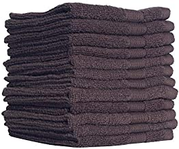 Kensignton Home - Essesntials, Washcloths (12 Pack, 12 x 12 Inch) Pure Cotton Wash Cloth Multi-Purpose Highly Absorbent Ex...