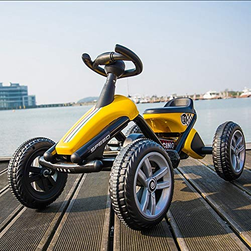 Tritow Creative Kids Pedal Go Kart Bicicleta, Bicicleta de Pedal de 4 Ruedas con Freno de Pedal, Sistema…