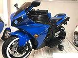 Moto Elettrica per Bambini Faster 12v R1 Illuminata Luci e Suoni LED (Blu)