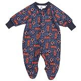 GERBER Chicago Bears Infant Navy Blue Blanket Sleeper Bodysuit